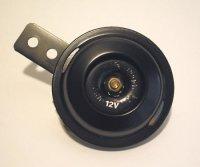 Hupe, 12V, schwarz, 70 mm Durchmesser, 100 dB