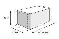 PRO Rackpack Hecktasche 1680D Ballistic Nylon....