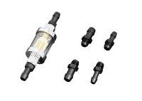 HIGHWAY HAWK Benzinfilter, chrom (1/4 Zoll)