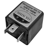 SHIN YO Flasher relay SY-02, 3-pole, 12 VDC, 1-100 Watt