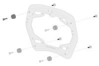 Sw-Motech Adapter kit for PRO side carrier For AERO ABS...