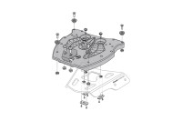 Sw-Motech Adapter plate for ALU-RACK For TRAX top case....