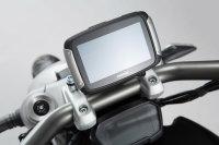 Navi-Halter am Lenker Schwarz. Ducati XDiavel/S (16-).
