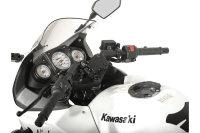 Navi-Halter am Lenker Schwarz. Kawasaki Ninja 250 R,...